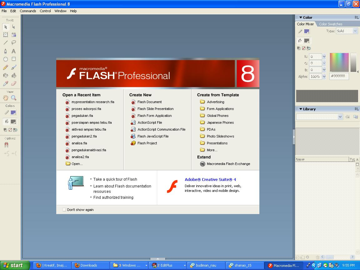 Animasi macromedia flash player